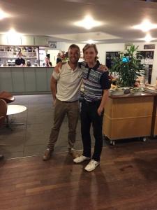 """Vores protræner, Lasse Frølich, med """"Årets junior"""", Andreas Groth Christensen"""